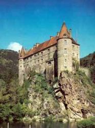 Chateau de Lavoute Polignac, près du Puy en Velay, Haute-Loire