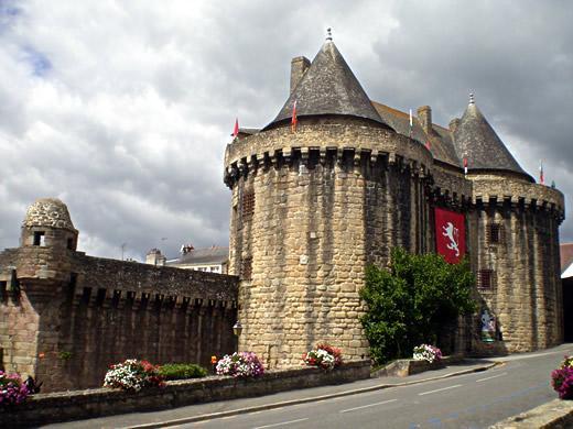 Château d'Hennebont en Bretagne (Morbihan)